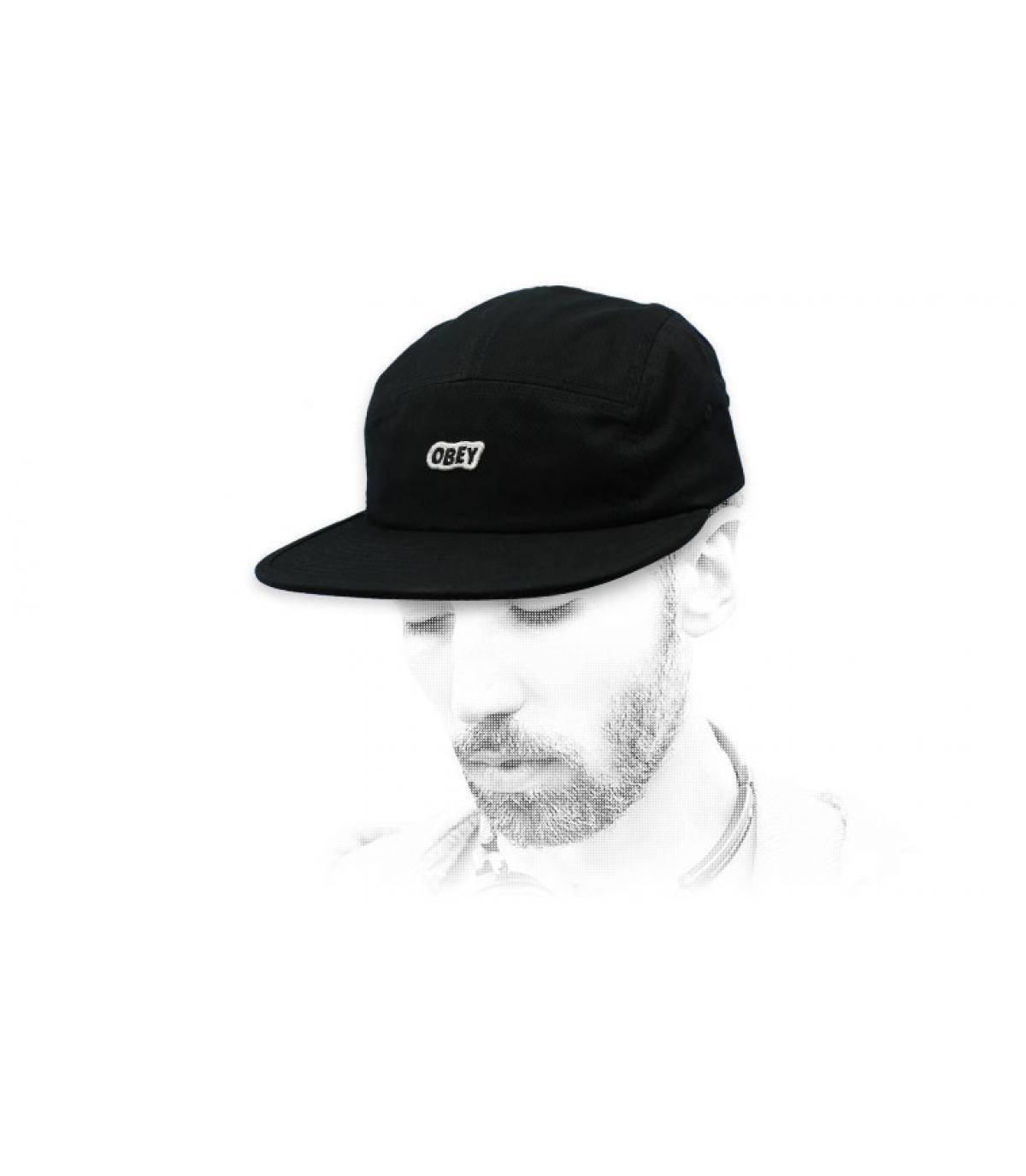 black 5 panel cap Obey