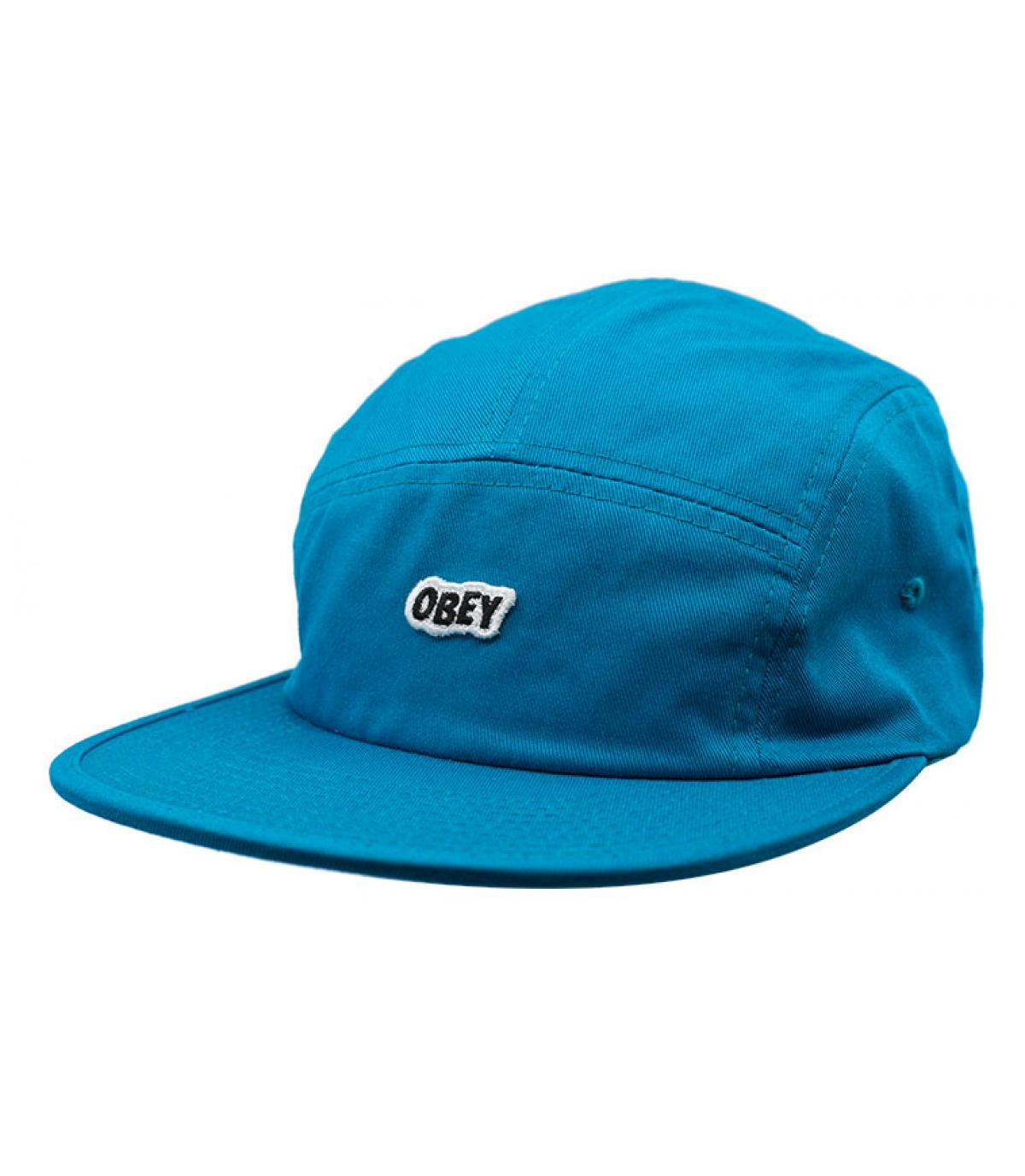 blue 5 panel cap Obey
