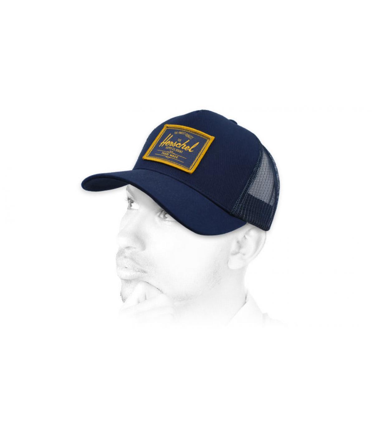blue Herschel trucker patch