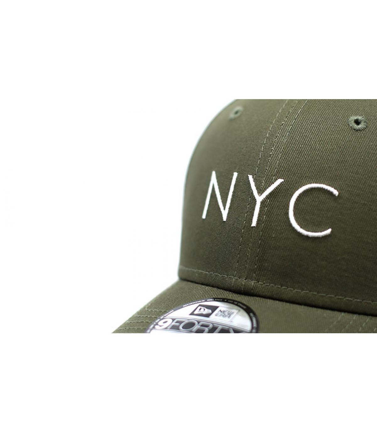 Détails NYC NE Ess 9Forty olive - image 3