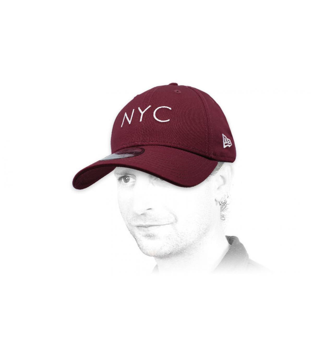 burgundy NYC cap