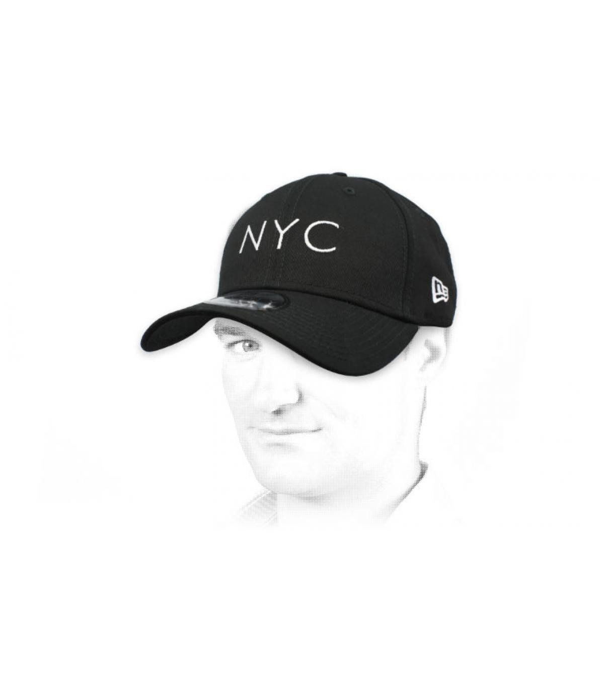 black NYC cap
