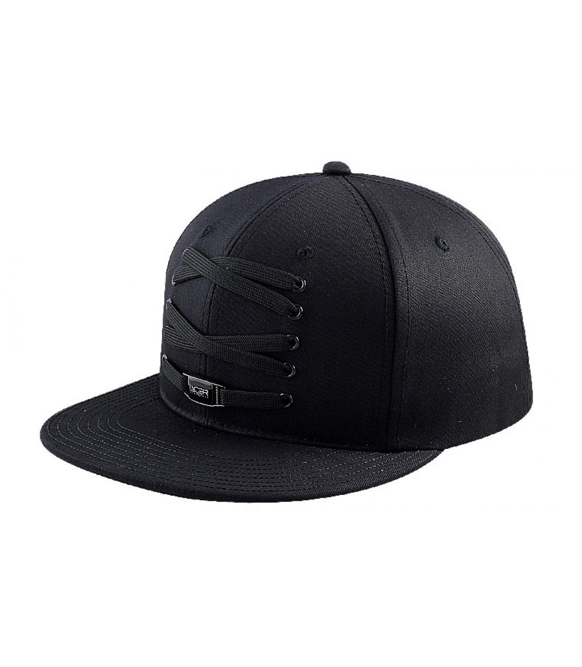 Total black Lacer cap - Snapback Lacer black sole by Lacer. 8d0ac7cf696