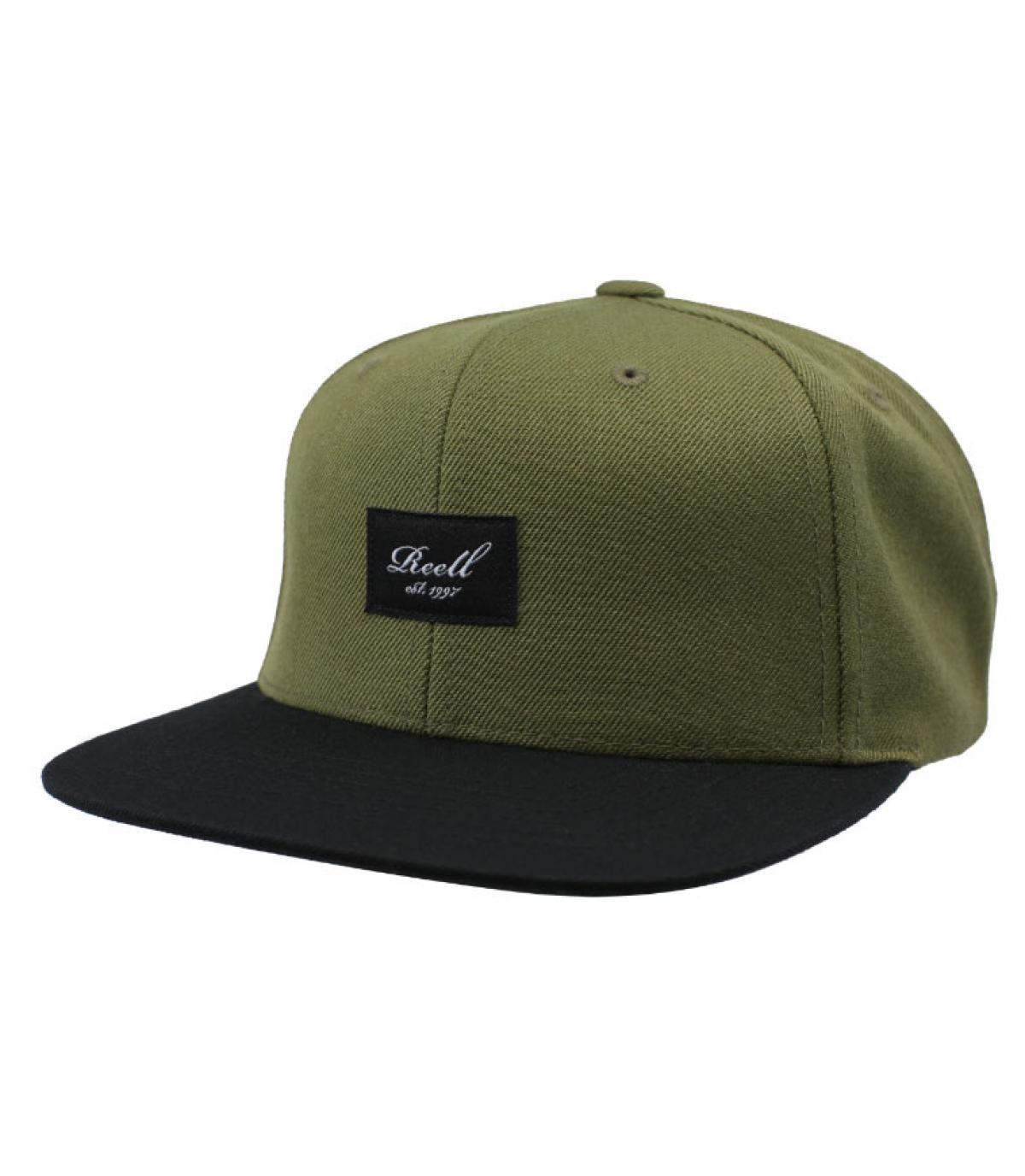 Reell black green snapback