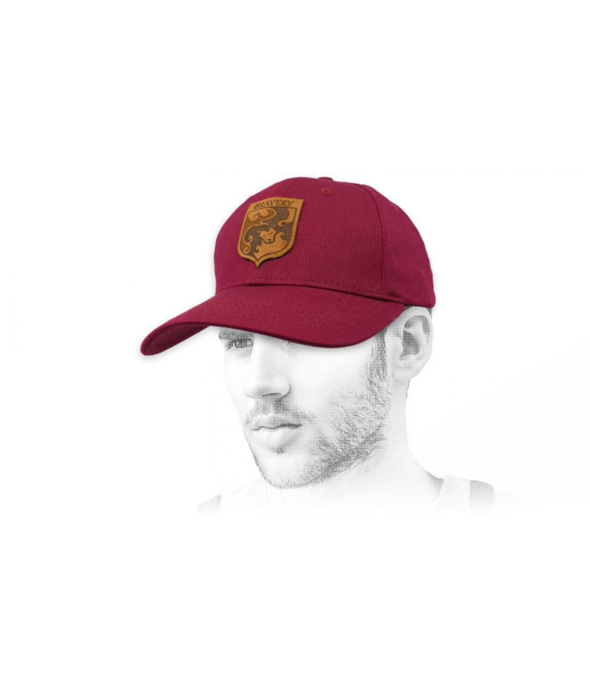 burgundy bravery cap