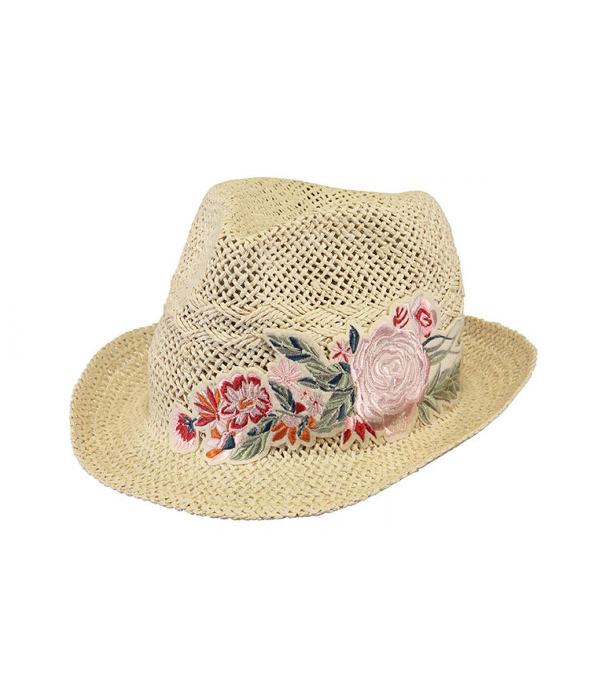 straw hat flowers