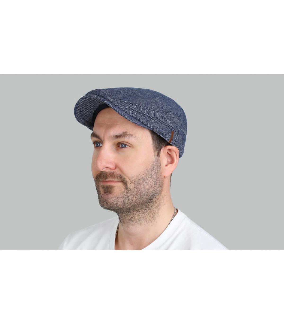 b86c225109a blue beret cotton
