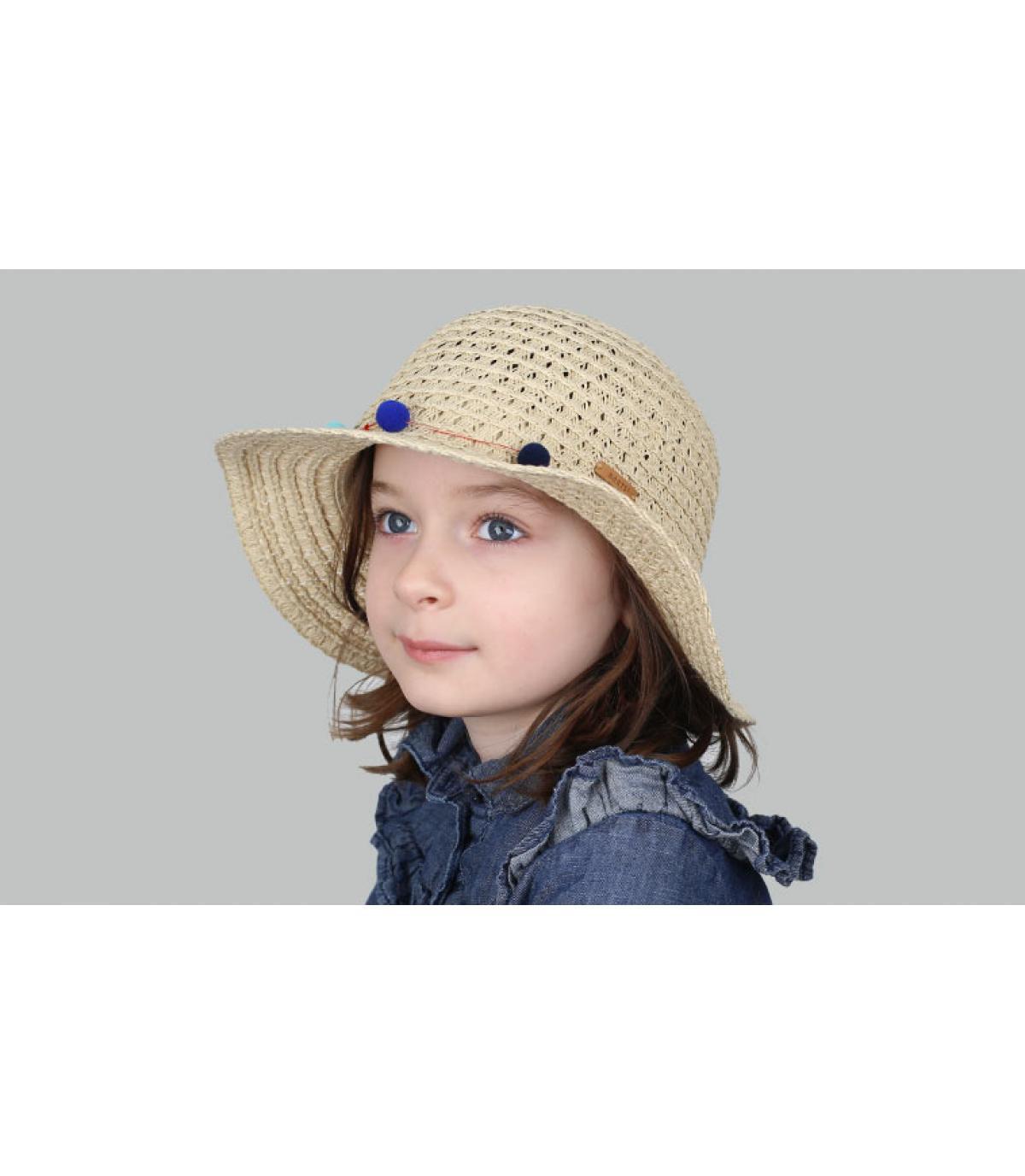 straw child wide brimmed hat