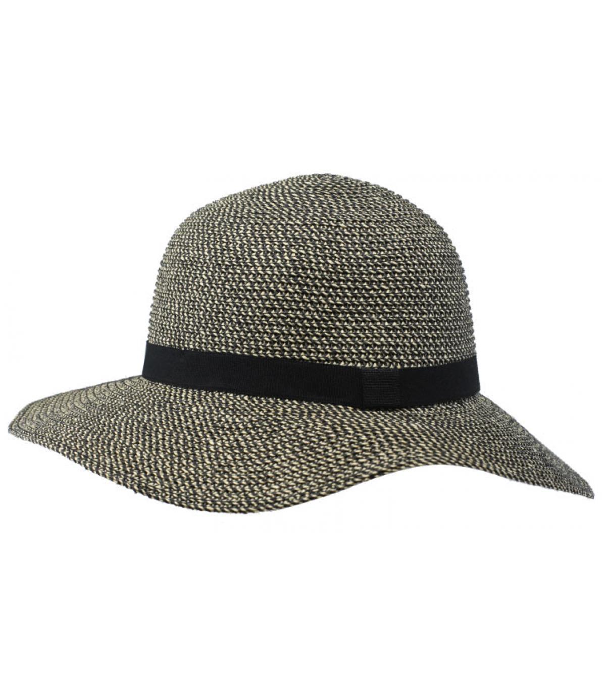 black straw wide brimmed hat