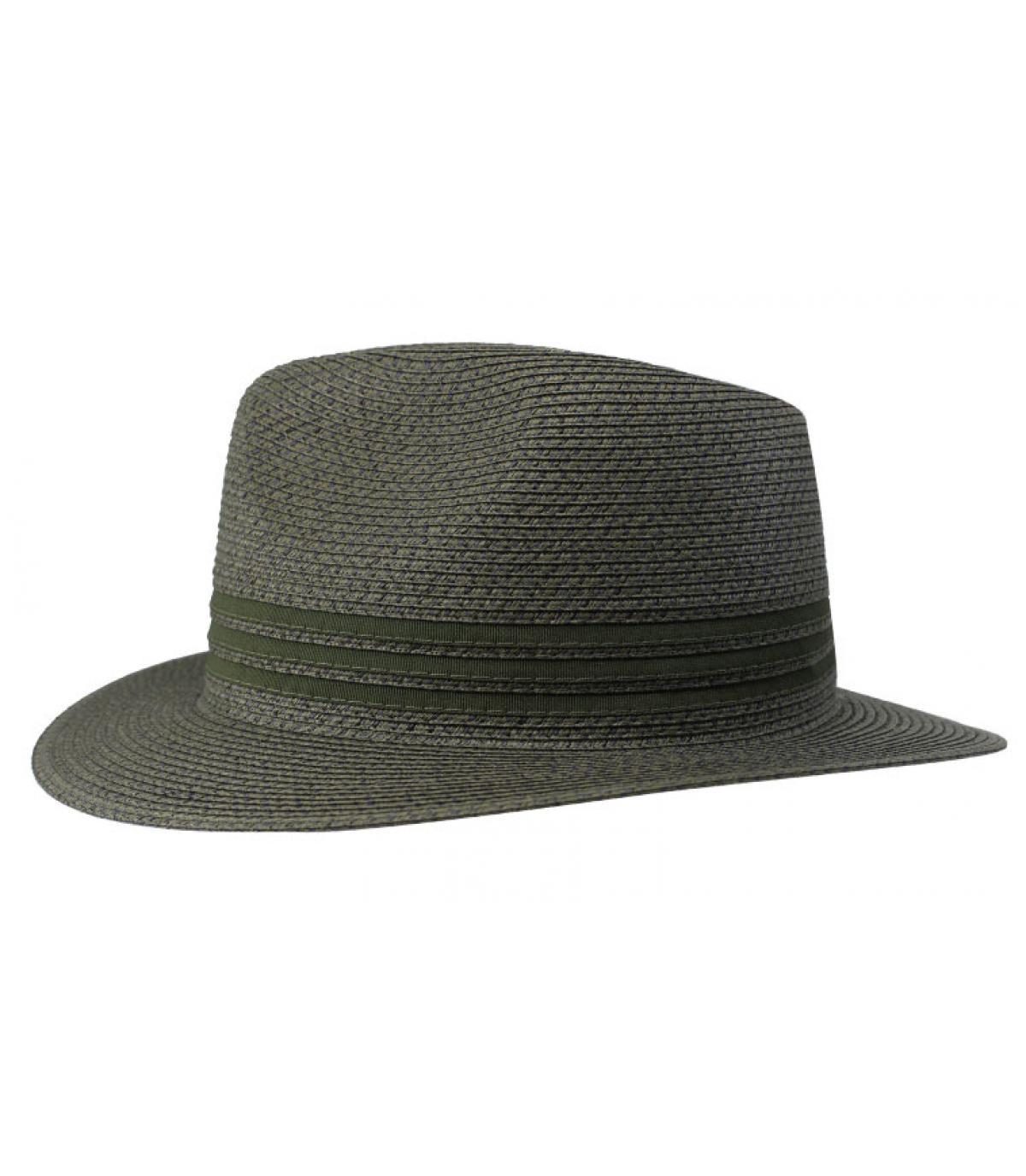 green straw hat