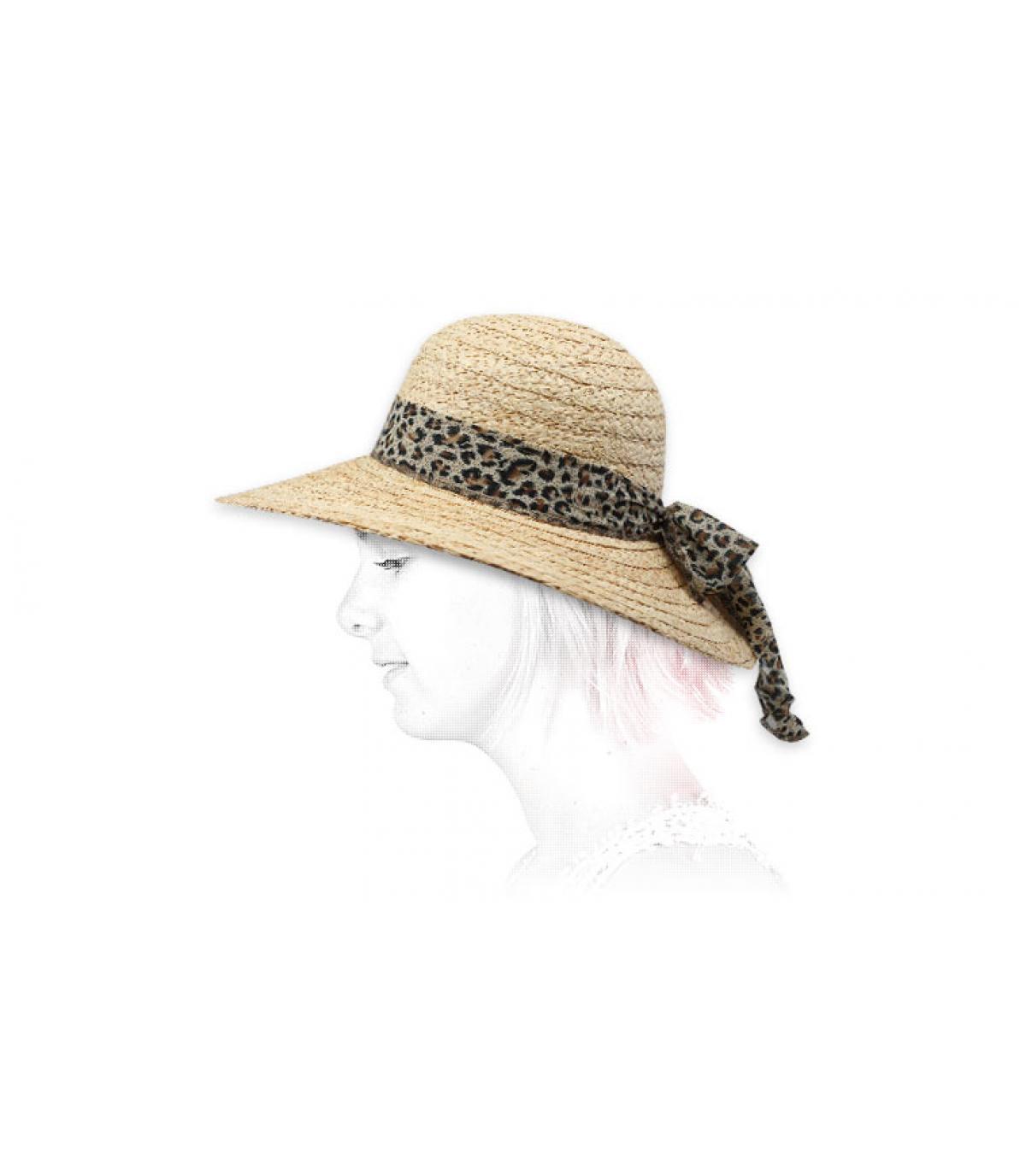 raffia wide brimmed hat scarf
