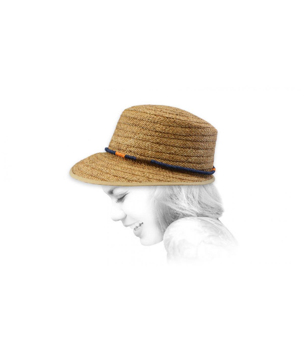 straw visor cap