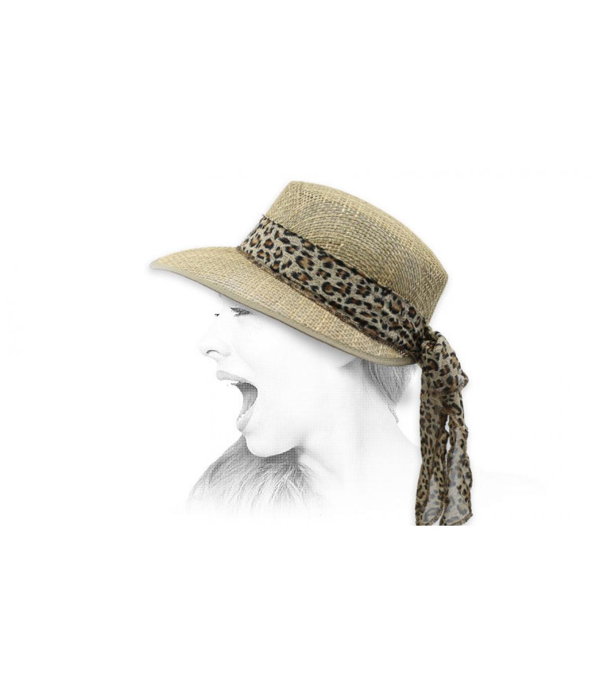 sisal visor cap