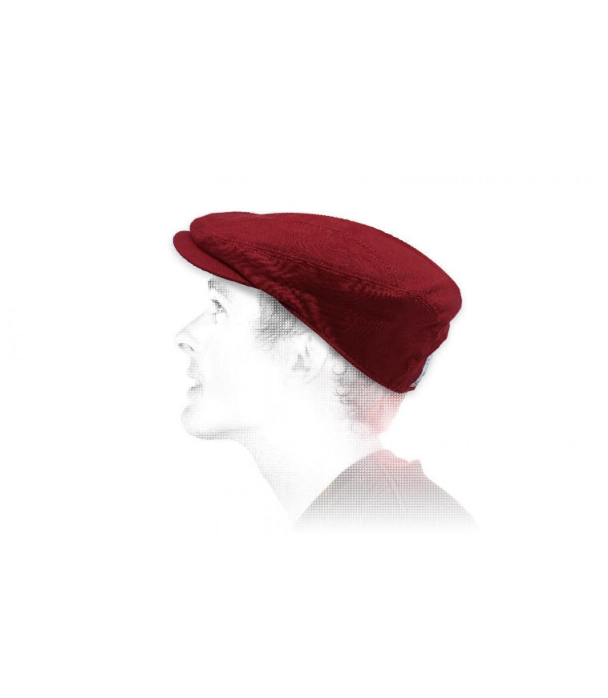 red flat cap linen