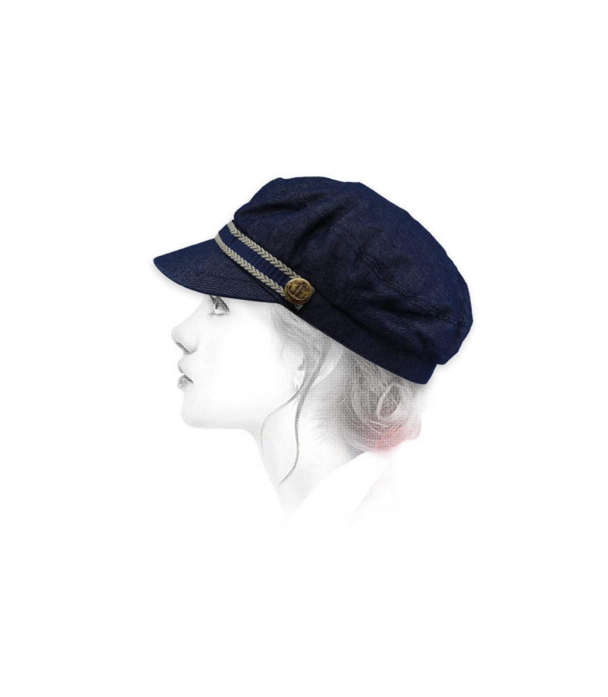 blue fisherman cap