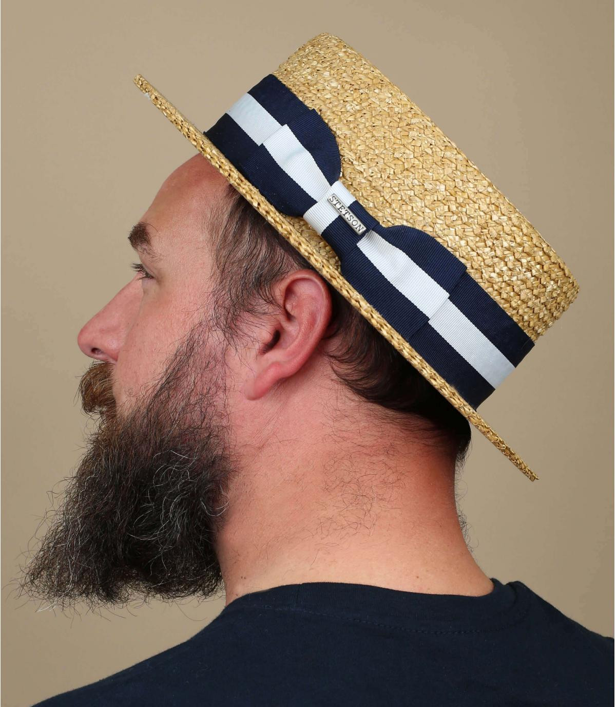 traditional straw boater hat
