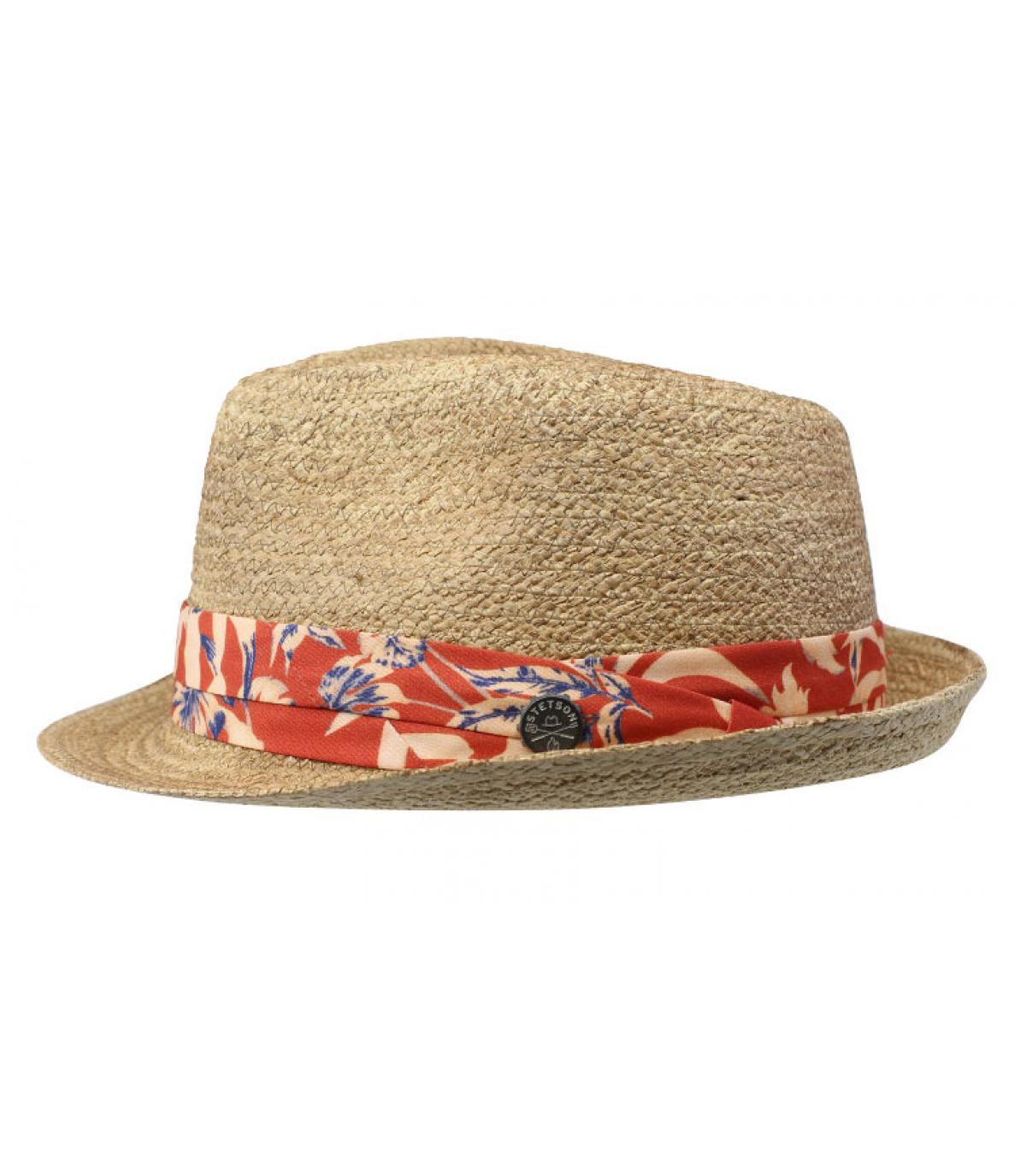 straw hat beige ribbon