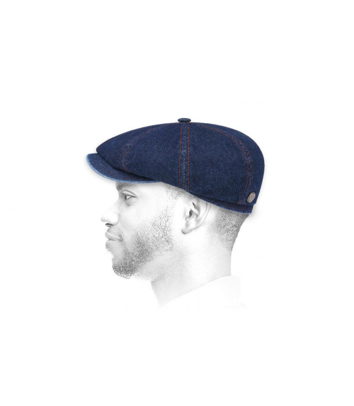newsboy cap denim Stetson