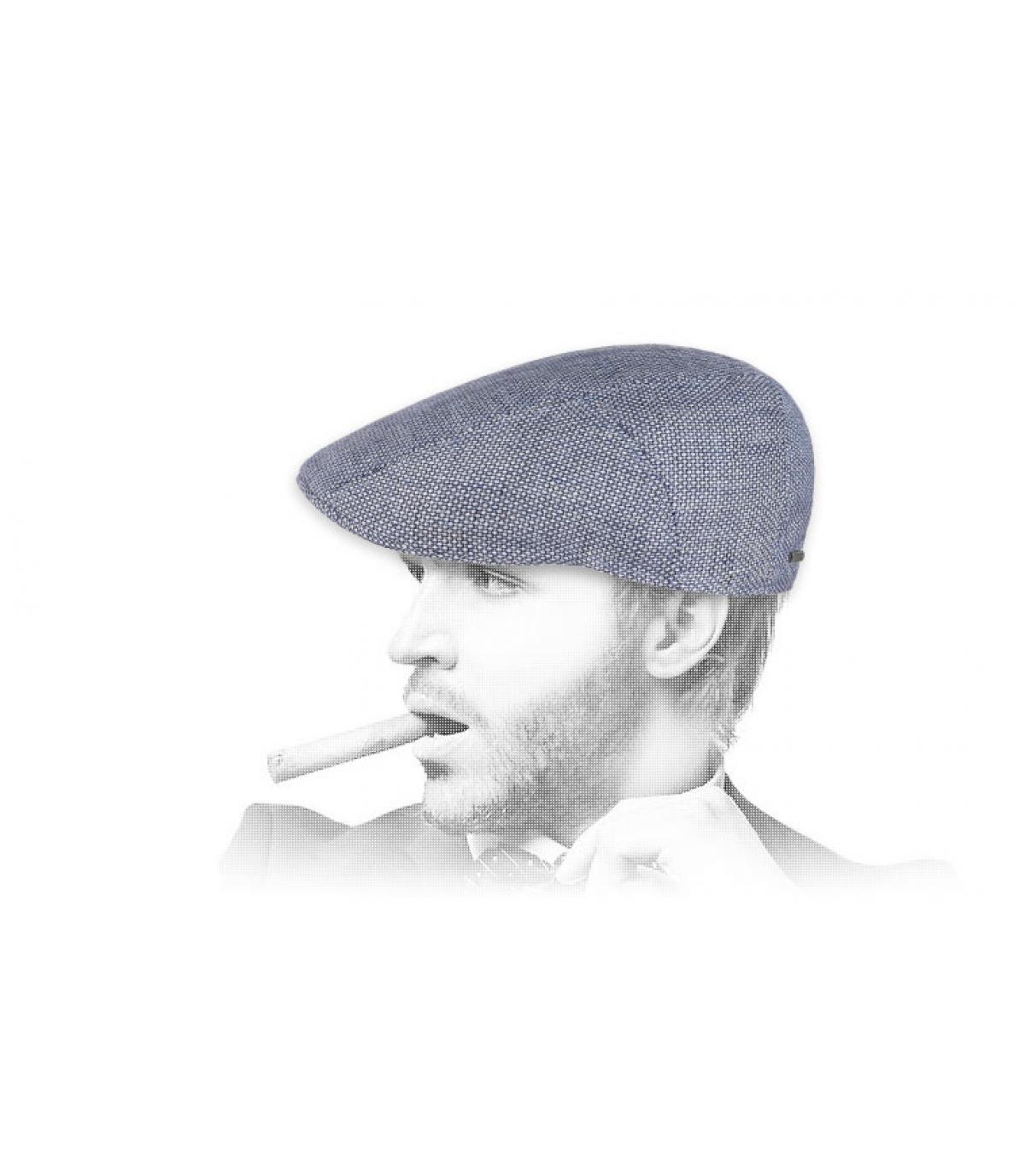 blue beret linen Stetson