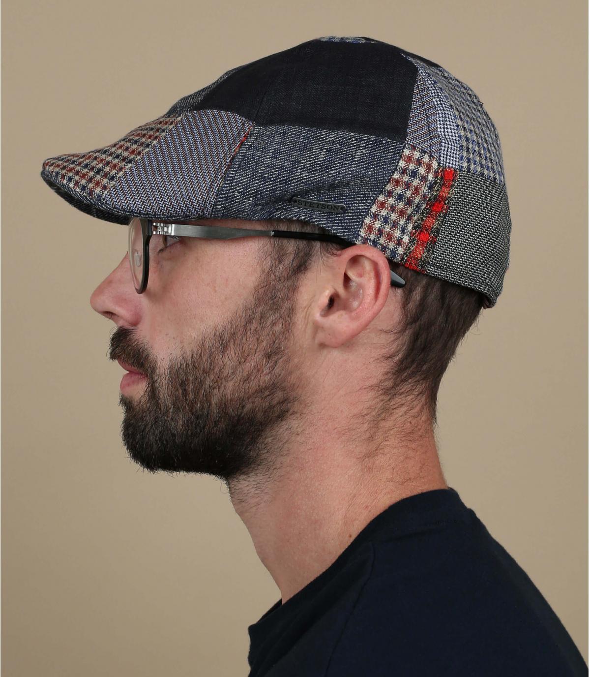patchwork duckbill cap