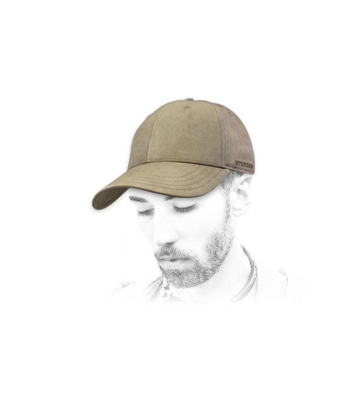 beige Stetson cap