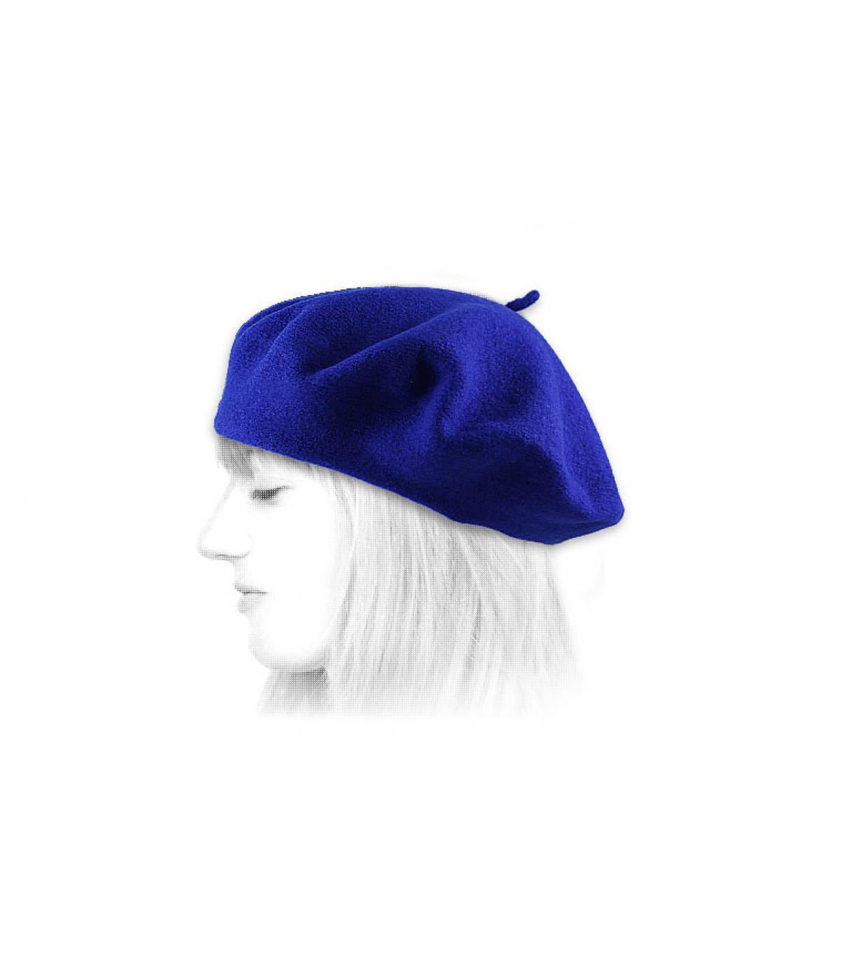 dea1d9b1 Blue french beret - Royal blue french beret by Le Béret Français.