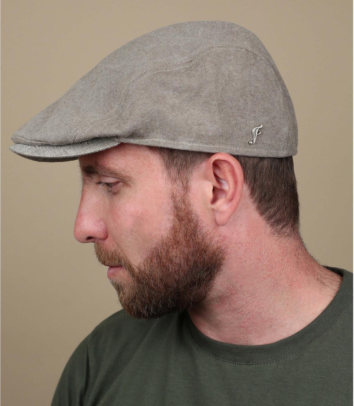 beige cotton beret