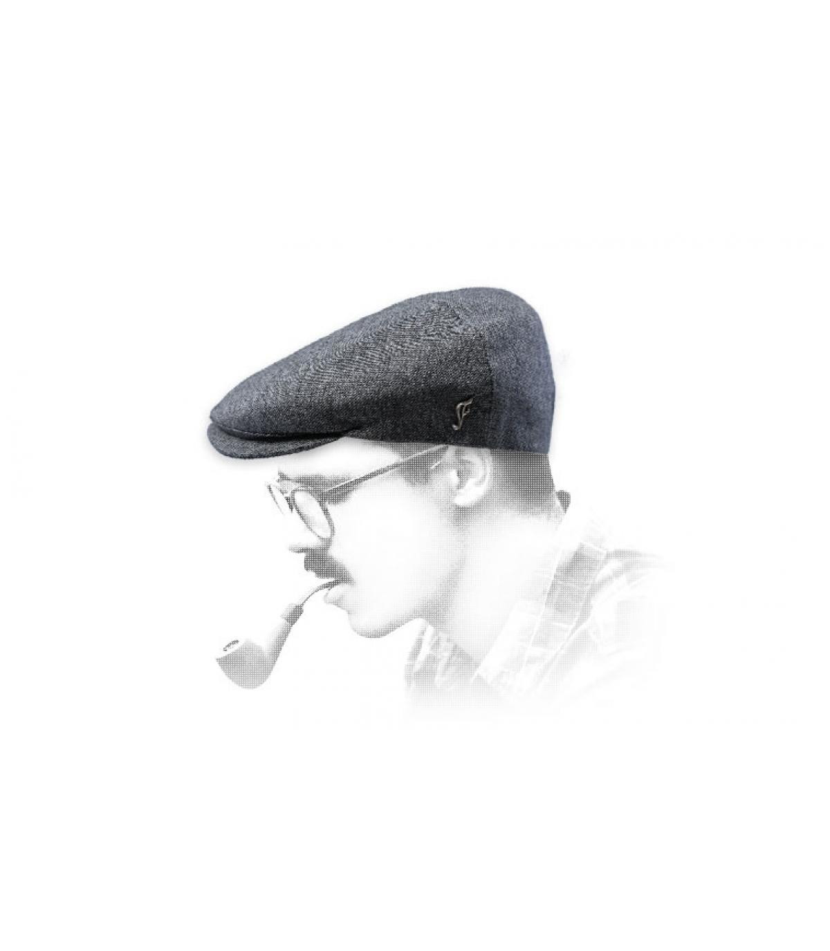 grey newsboy cap silk
