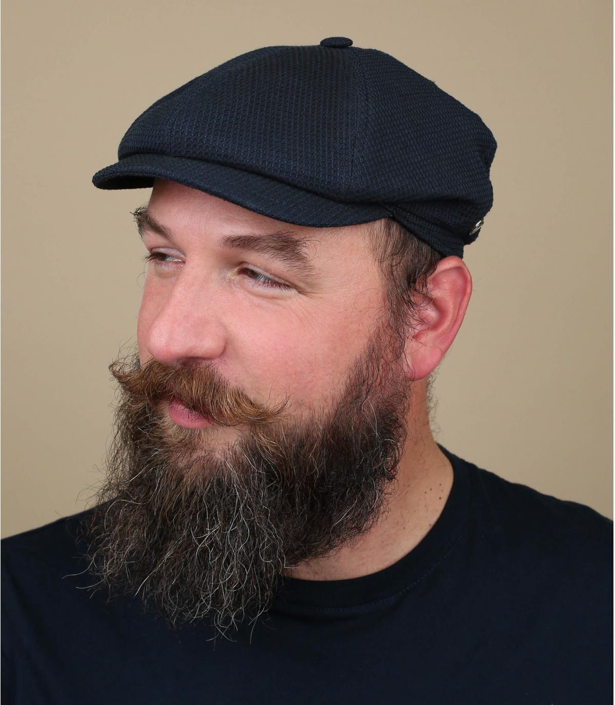 newsboy cap blue