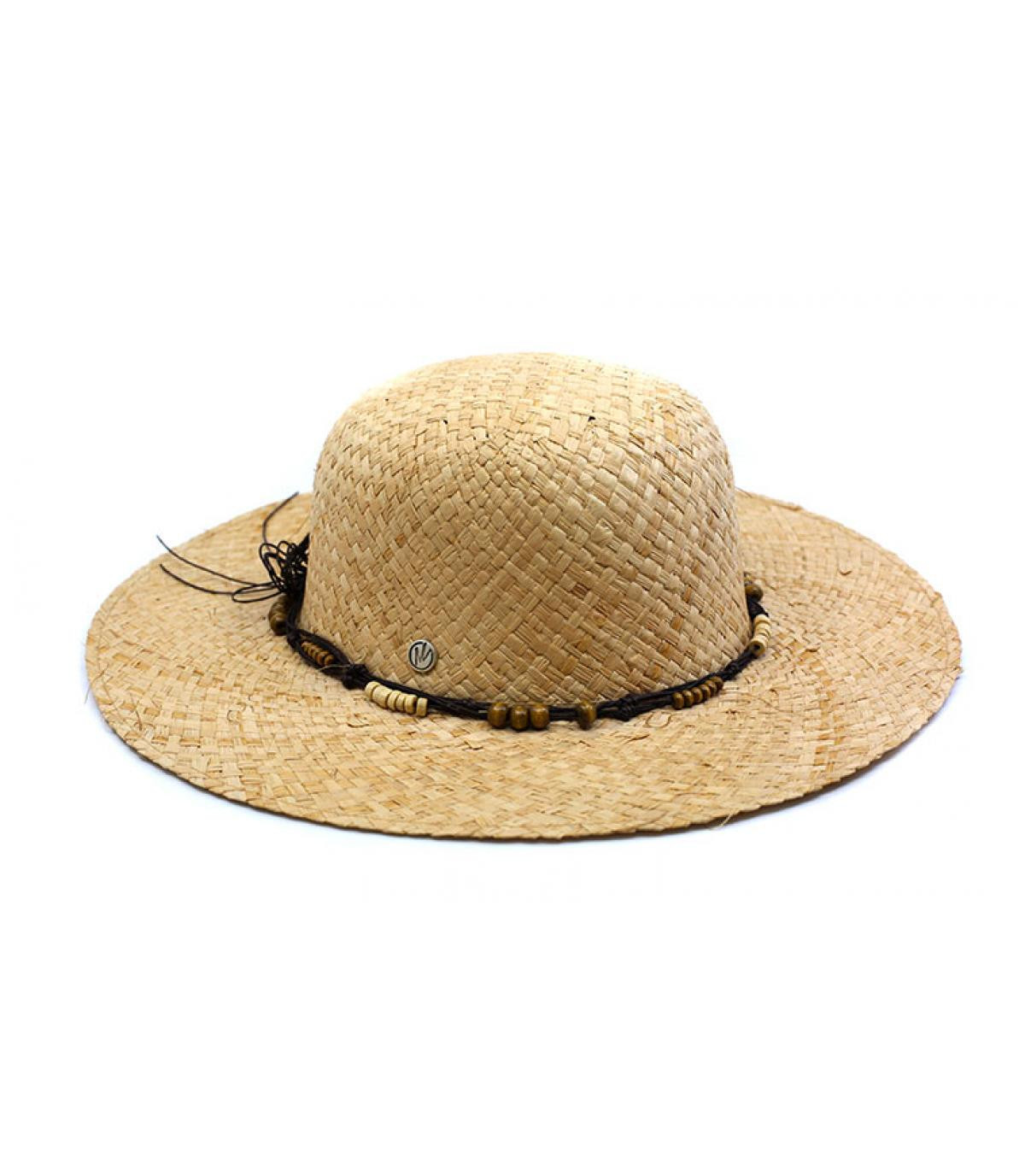 straw wide brimmed hat bow