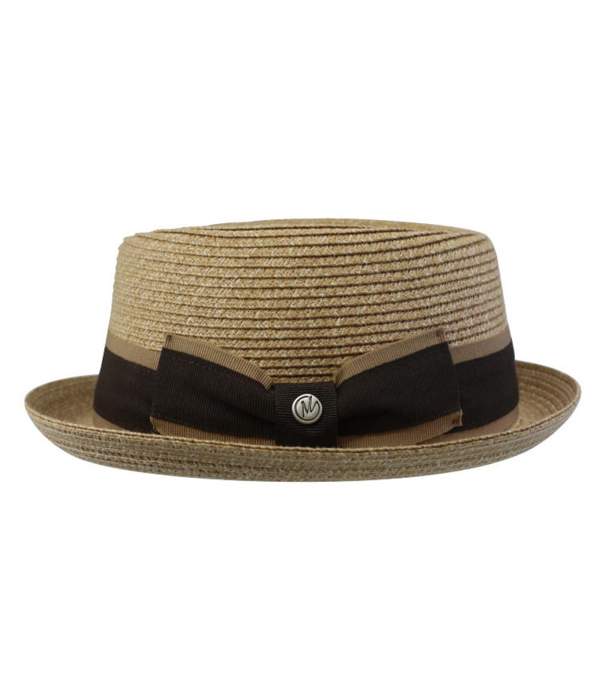 Beige Straw Hat Ribbon Dudley Natural By M By Flechet Headict
