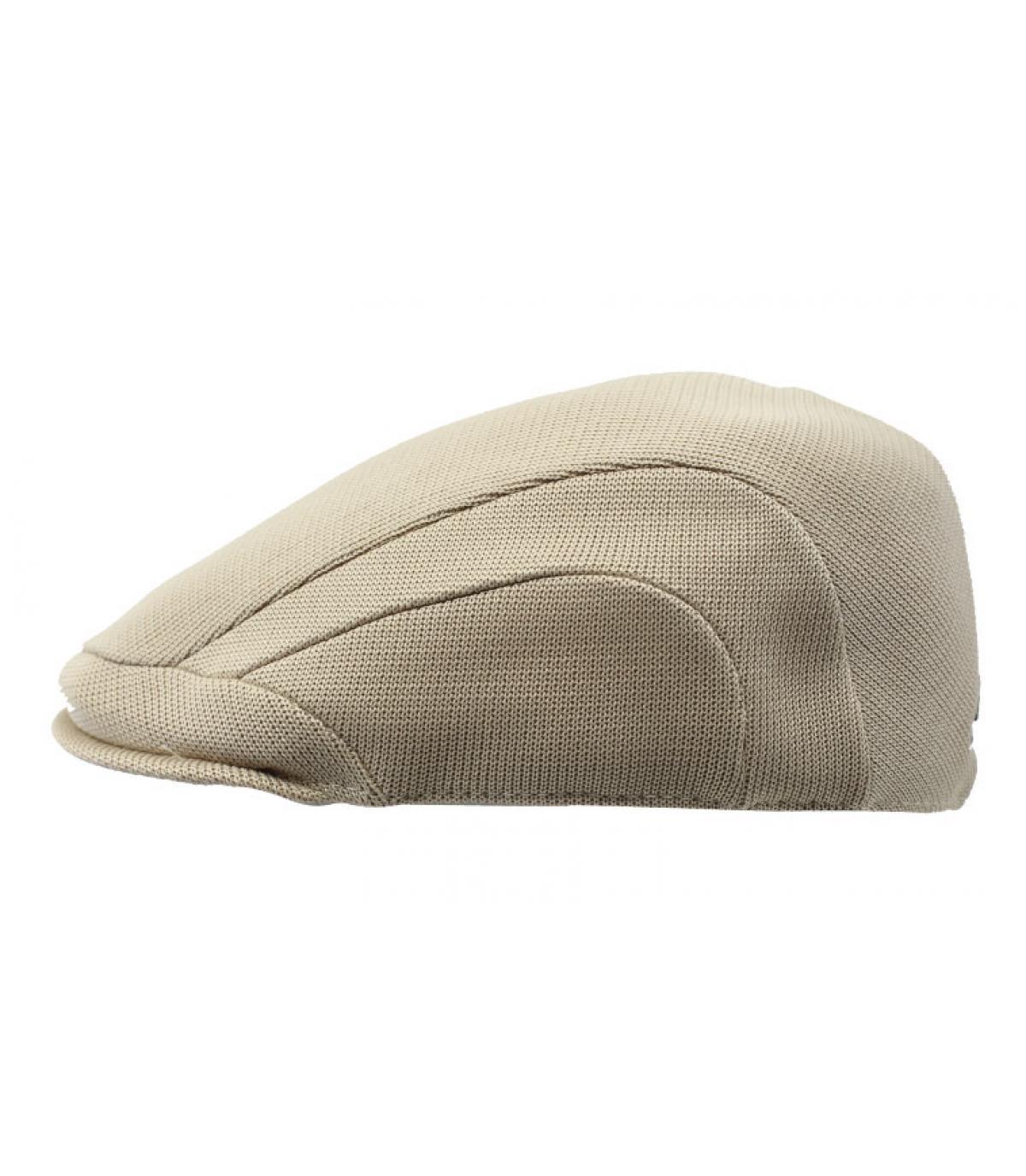 beige summer flat cap Kangol