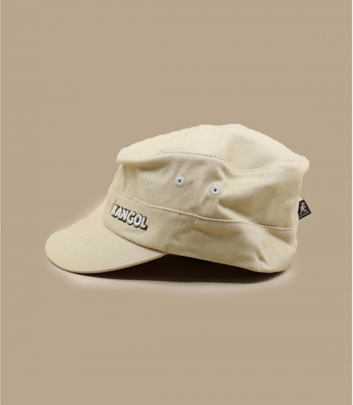 Détails Cotton Twilll Army Cap beige - image 3