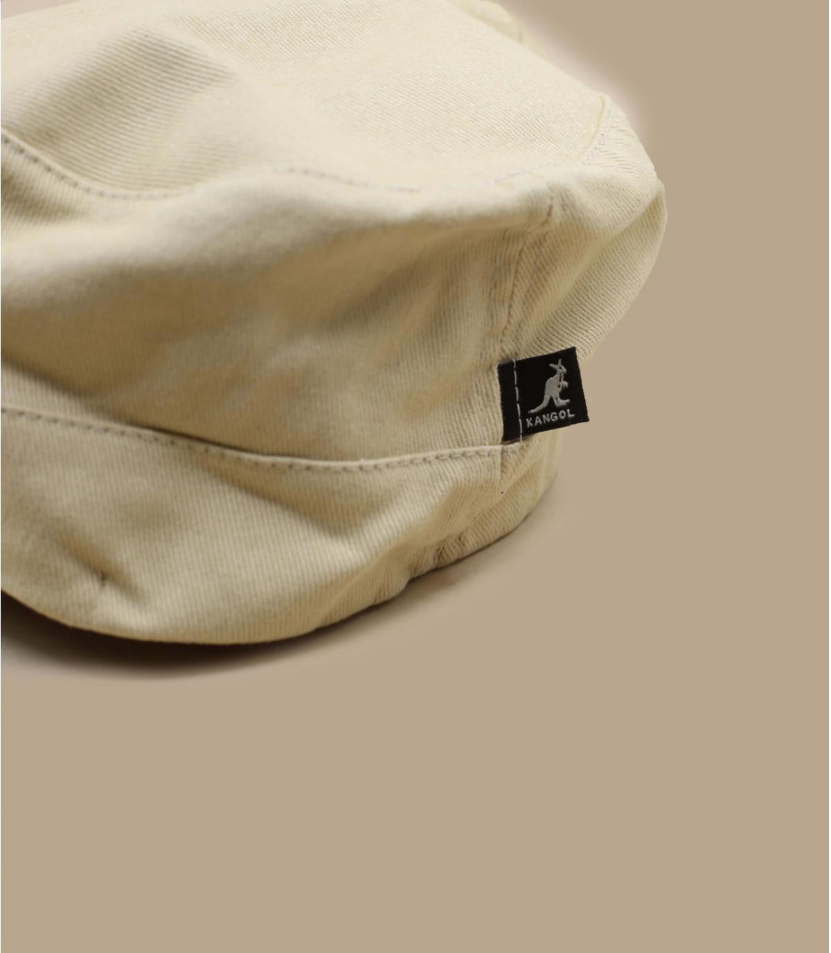 Détails Cotton Twilll Army Cap beige - image 4