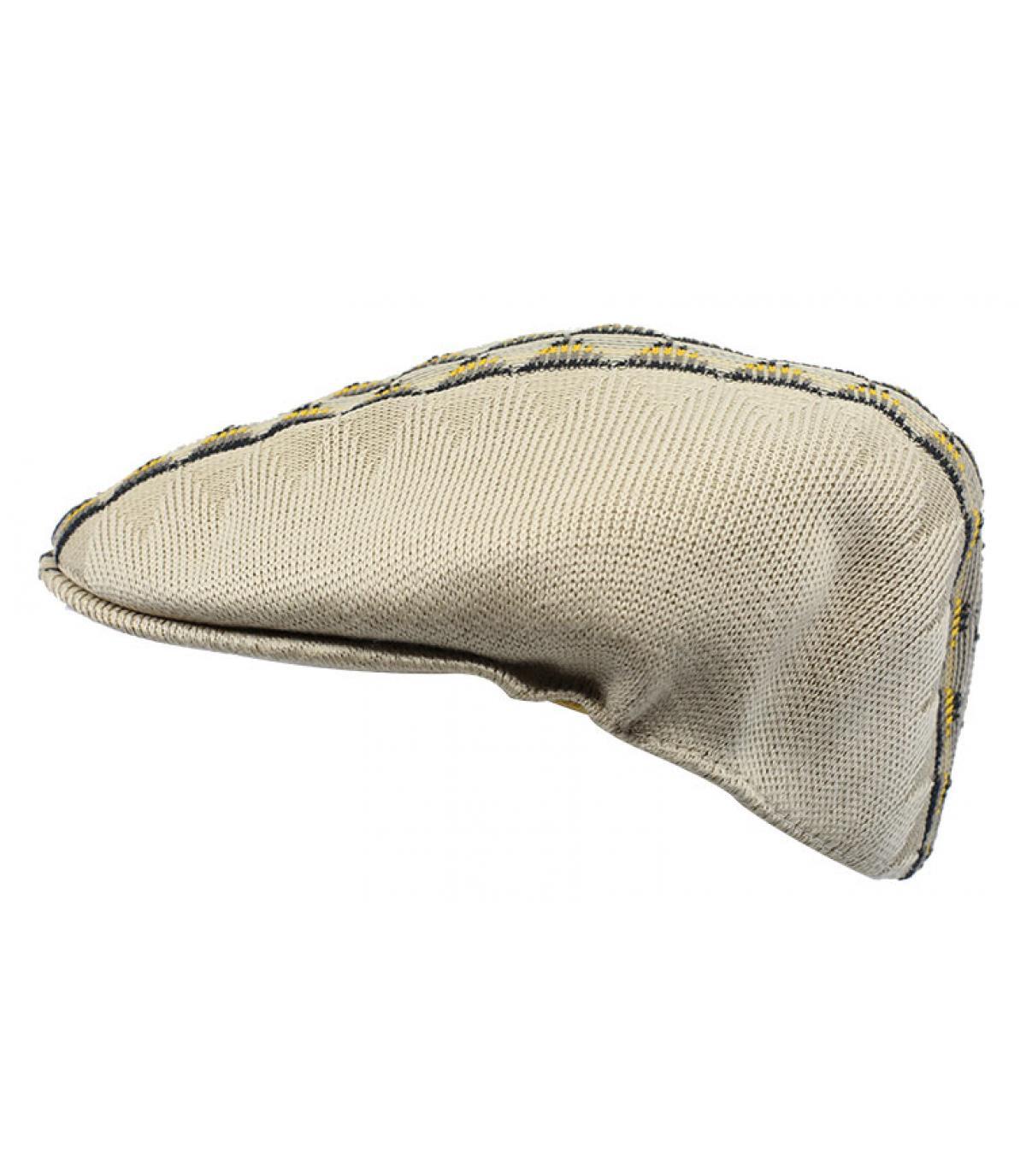 beige flat cap pattern Kangol