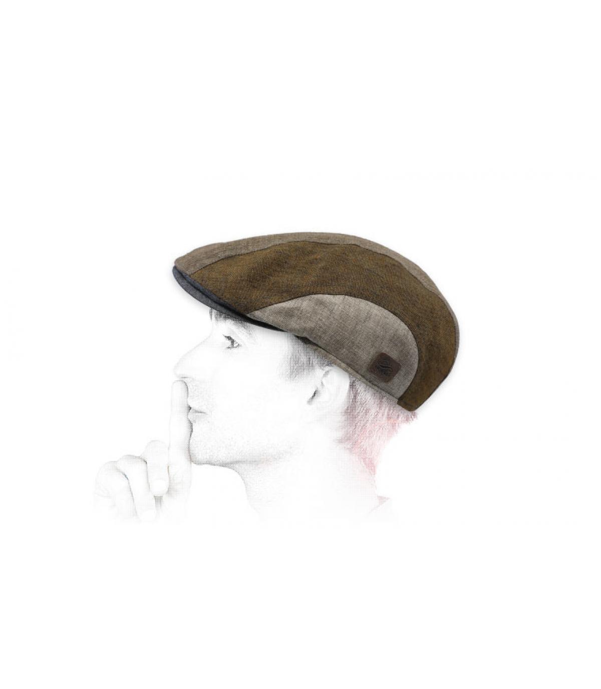 blue green beret linen