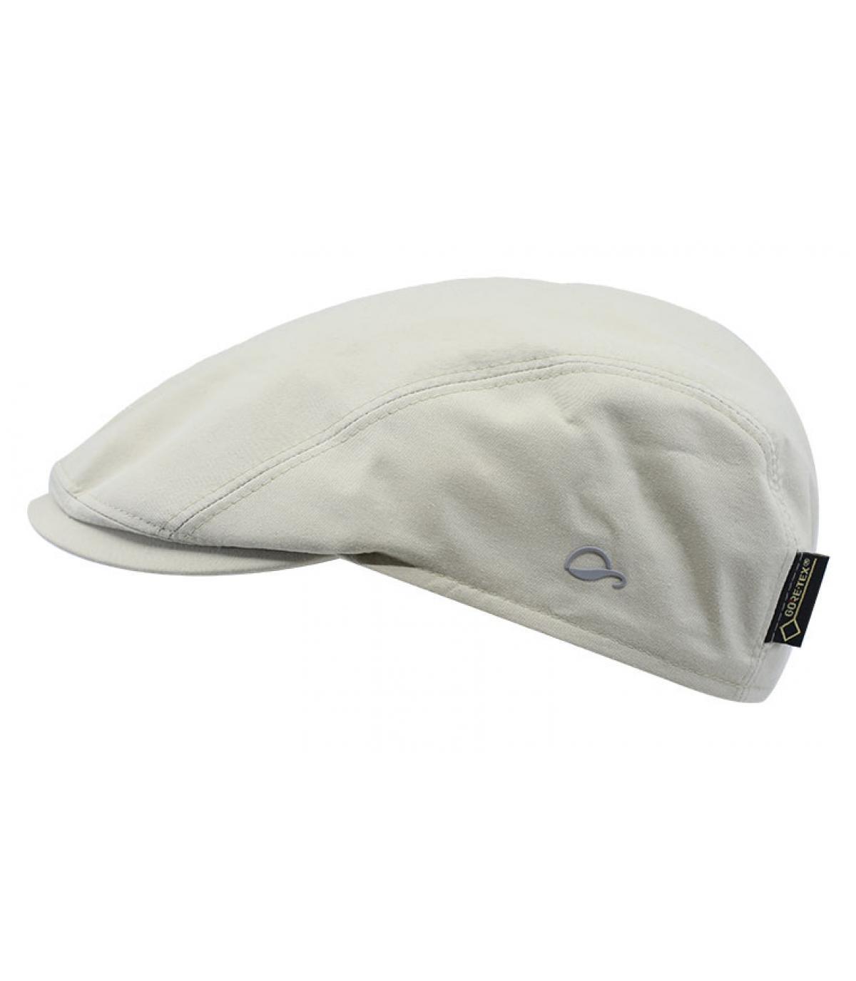 beige Gore Tex flat cap