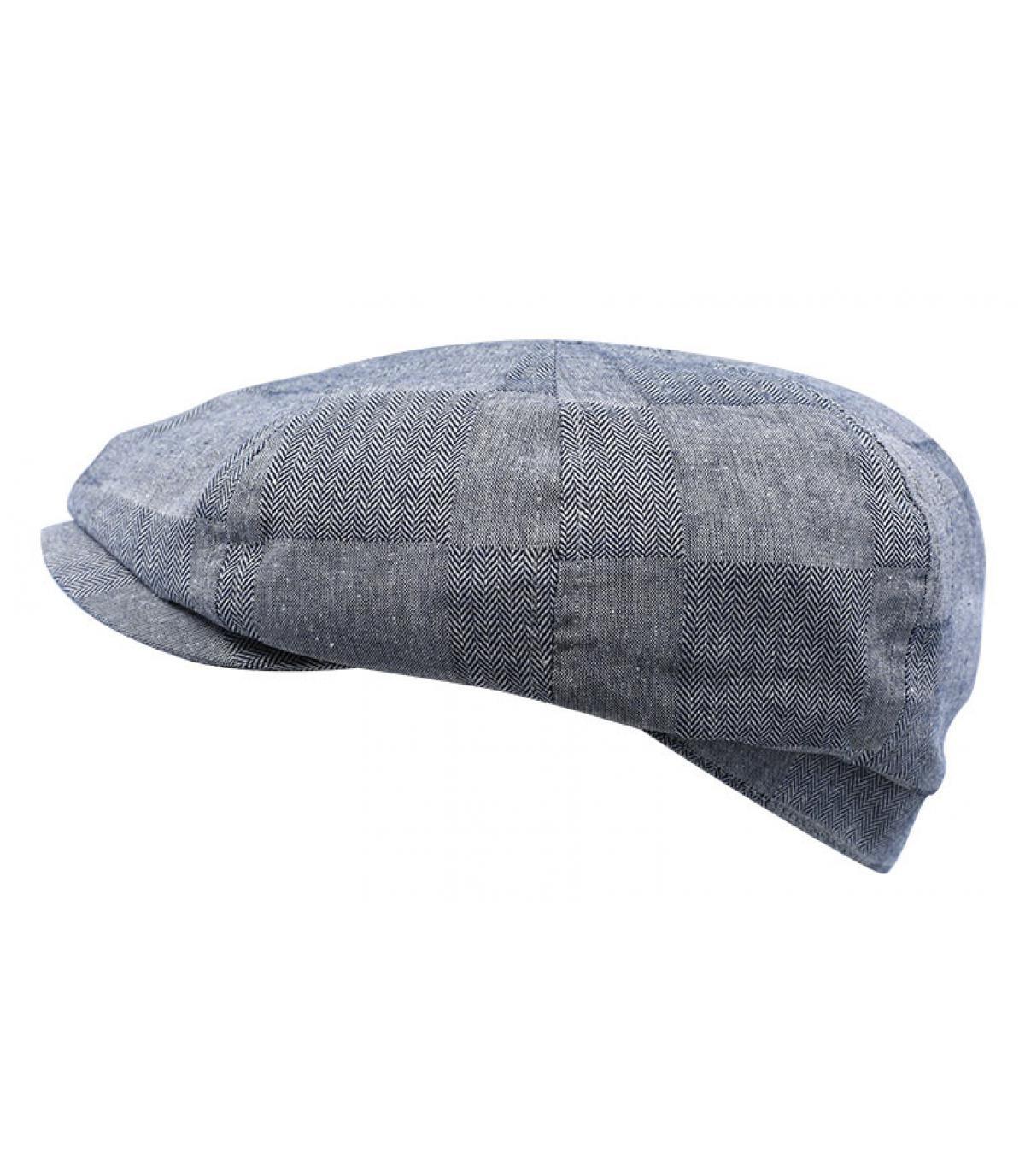 navy blue newsboy cap
