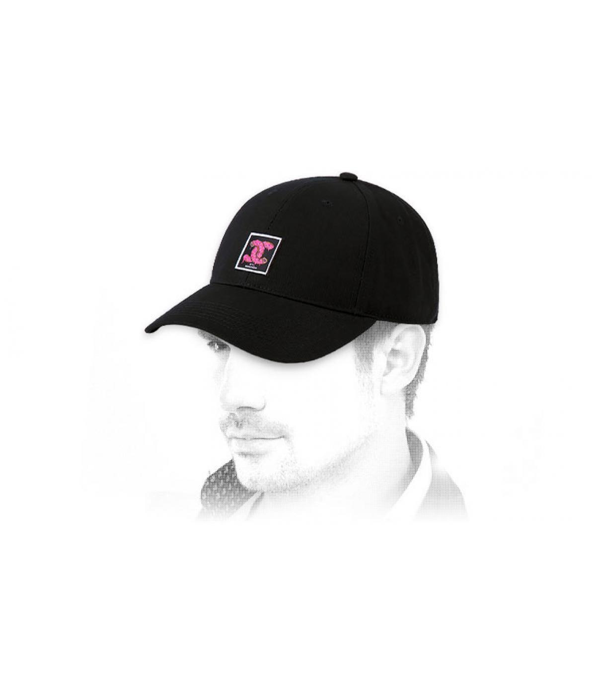 black Cayler cap logo donut