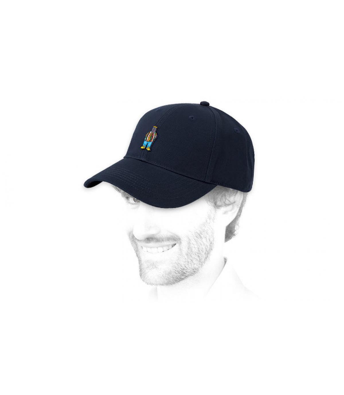 blue Notorious cap patch