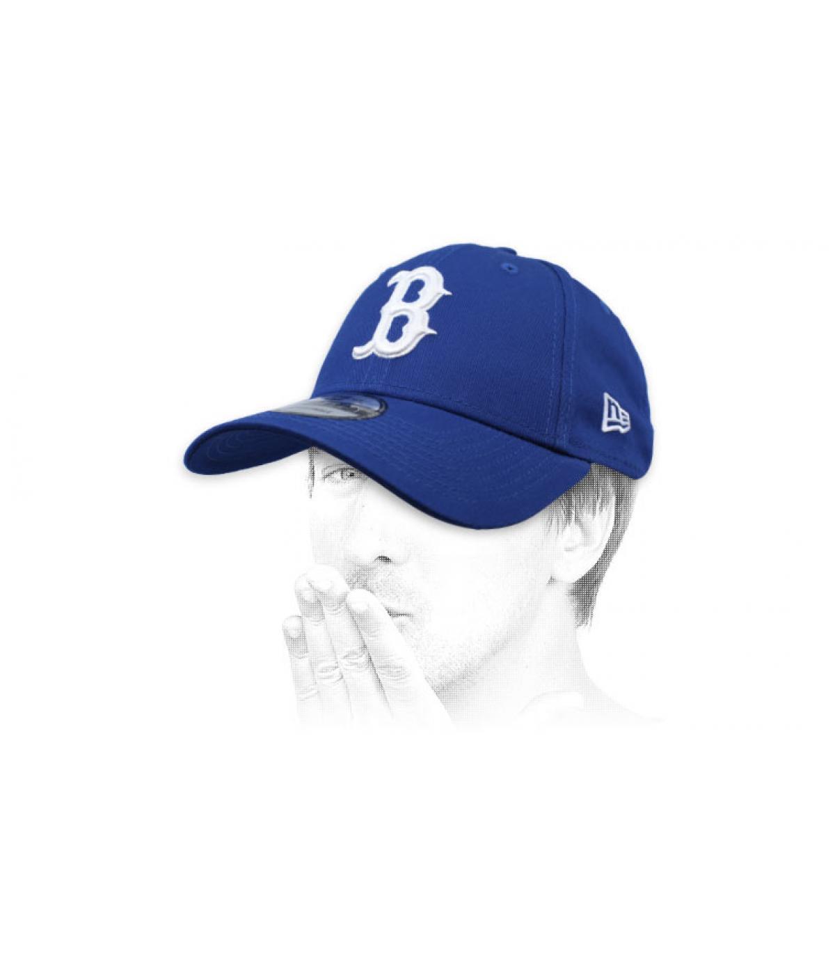 blue B cap