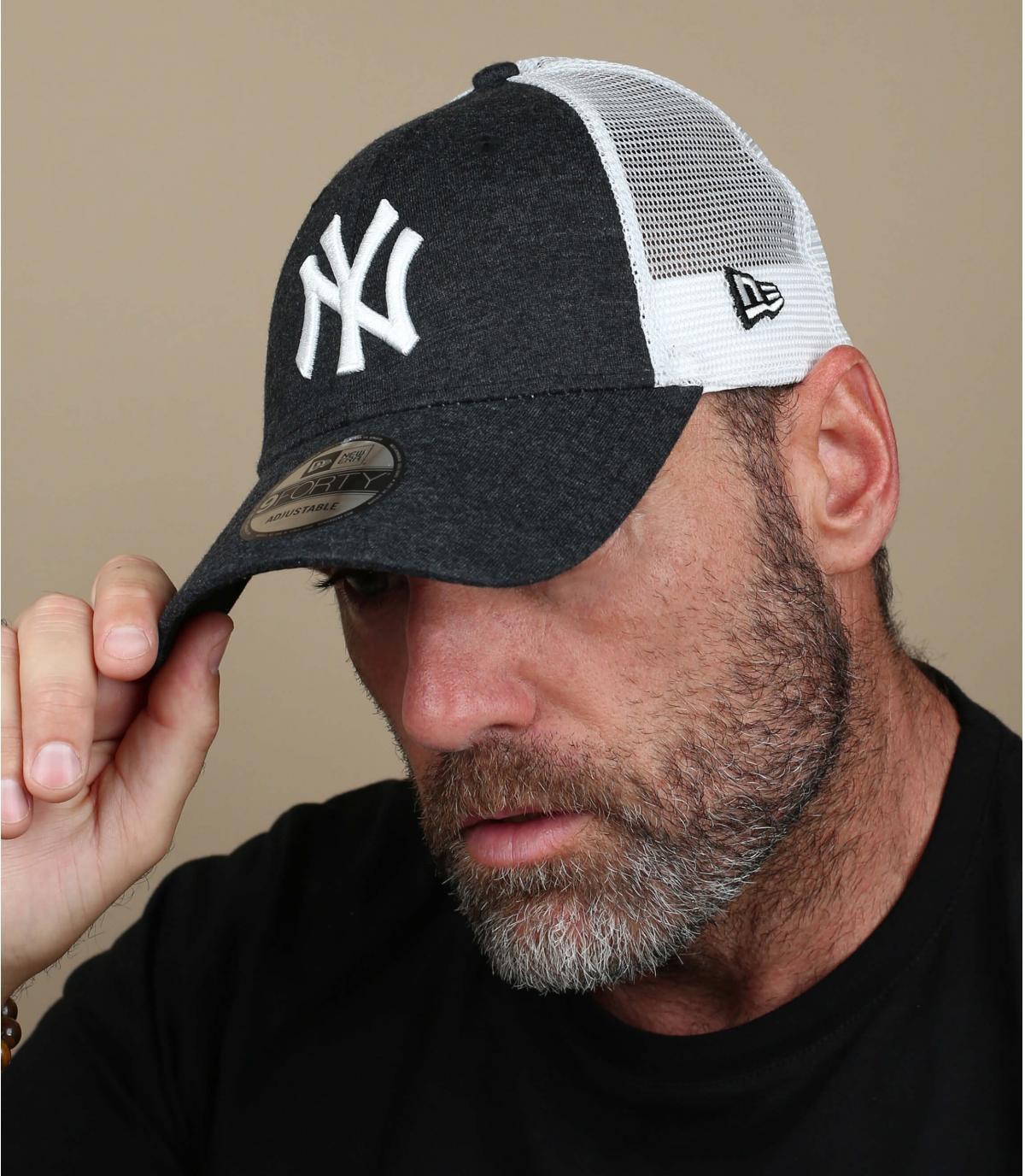 black NY trucker