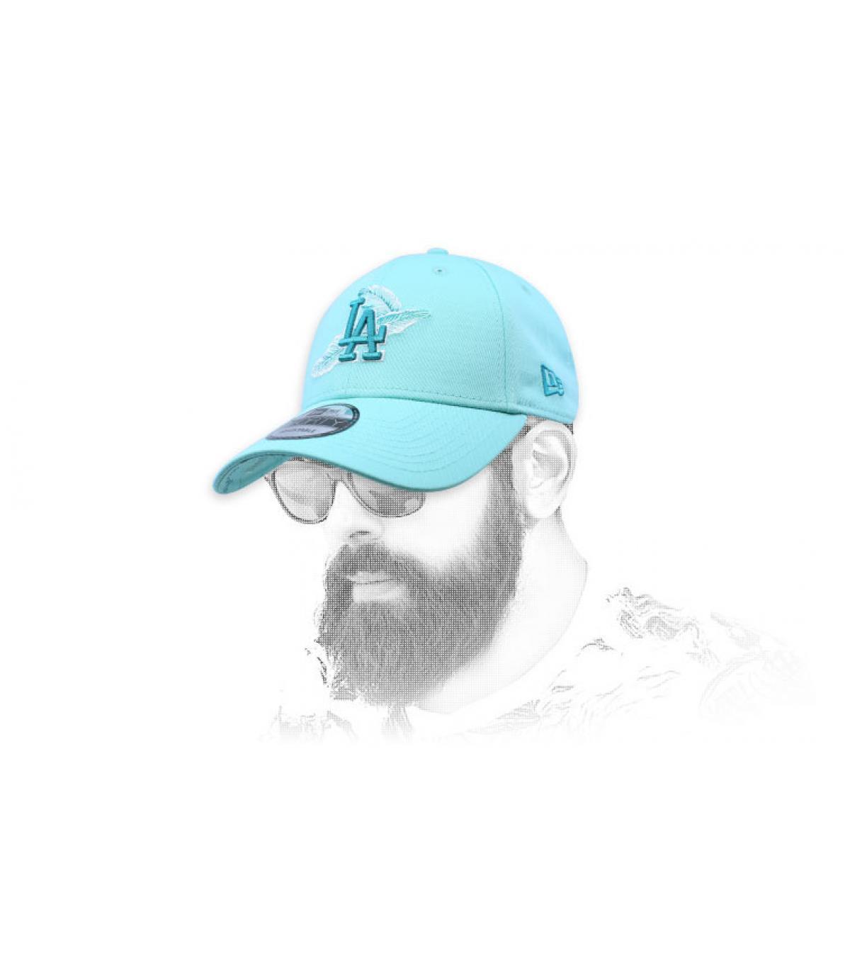 light blue LA cap