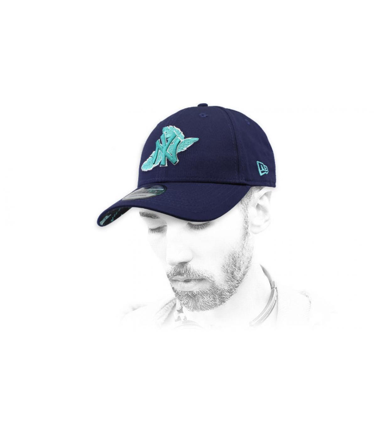blue NY cap