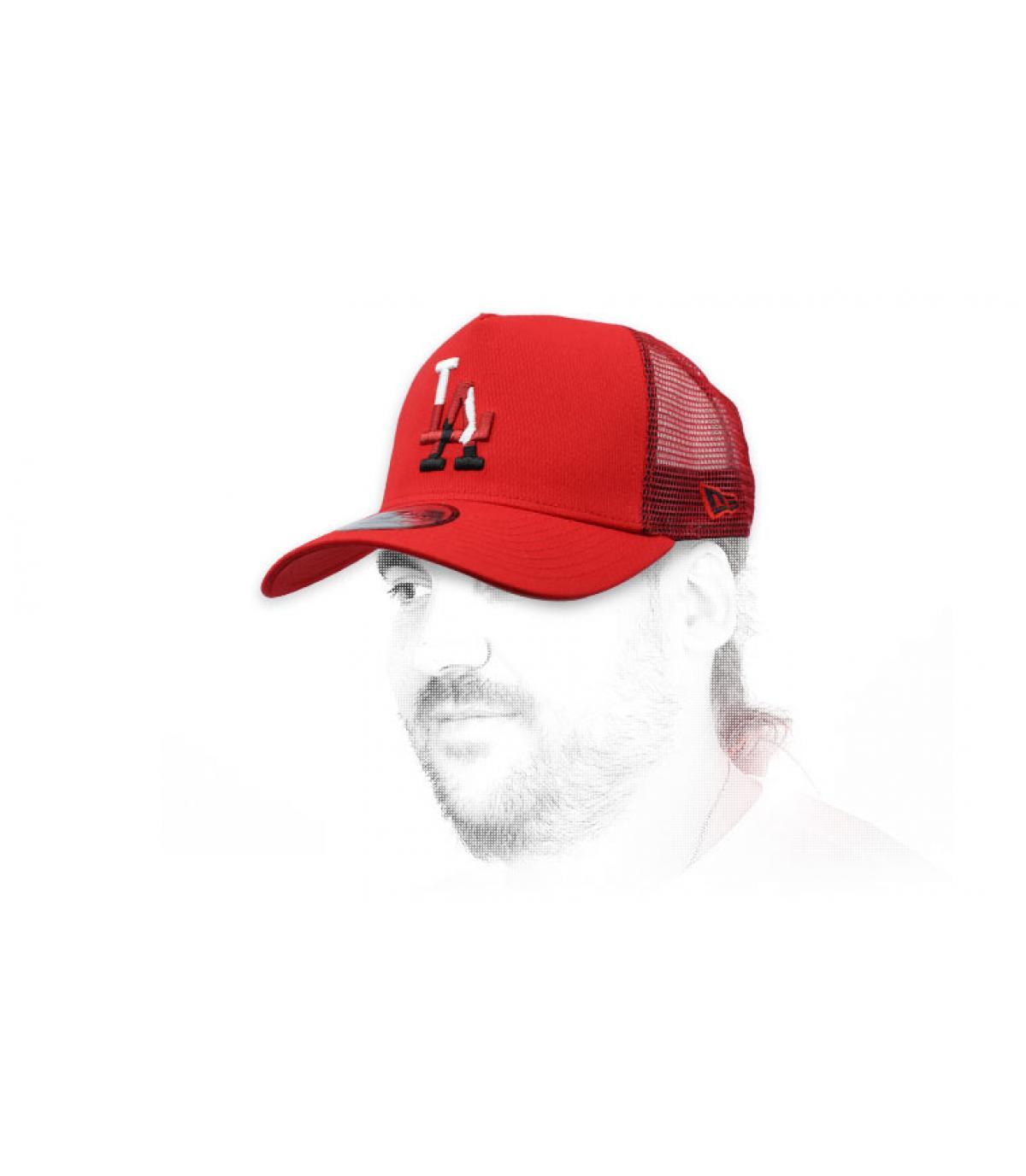 red LA trucker camo