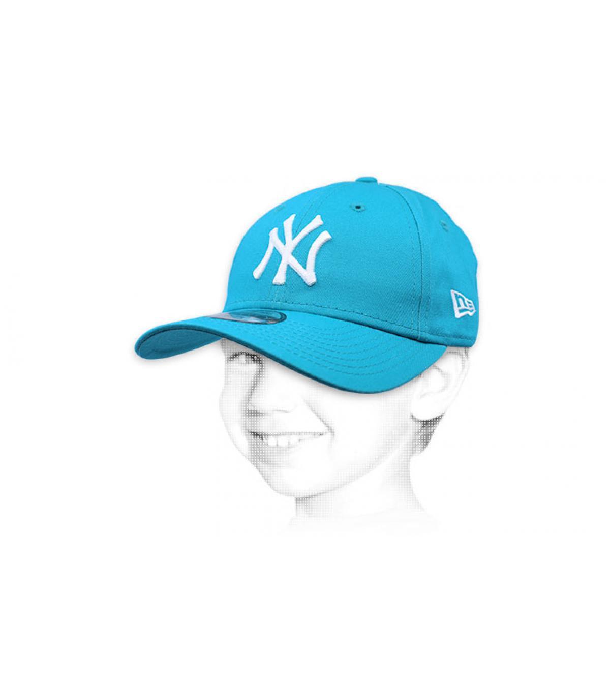 kid blue NY cap