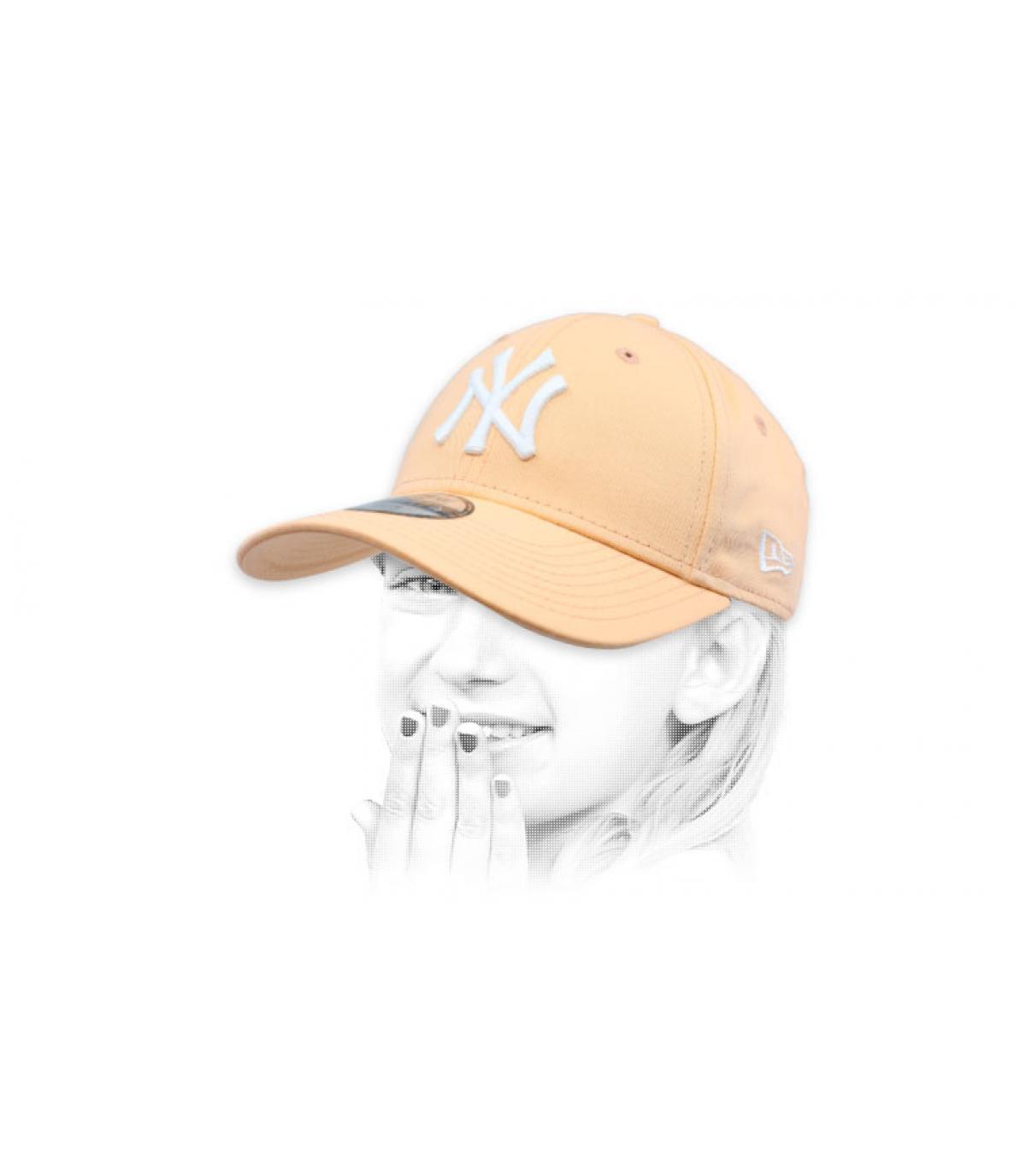 NY pink children cap