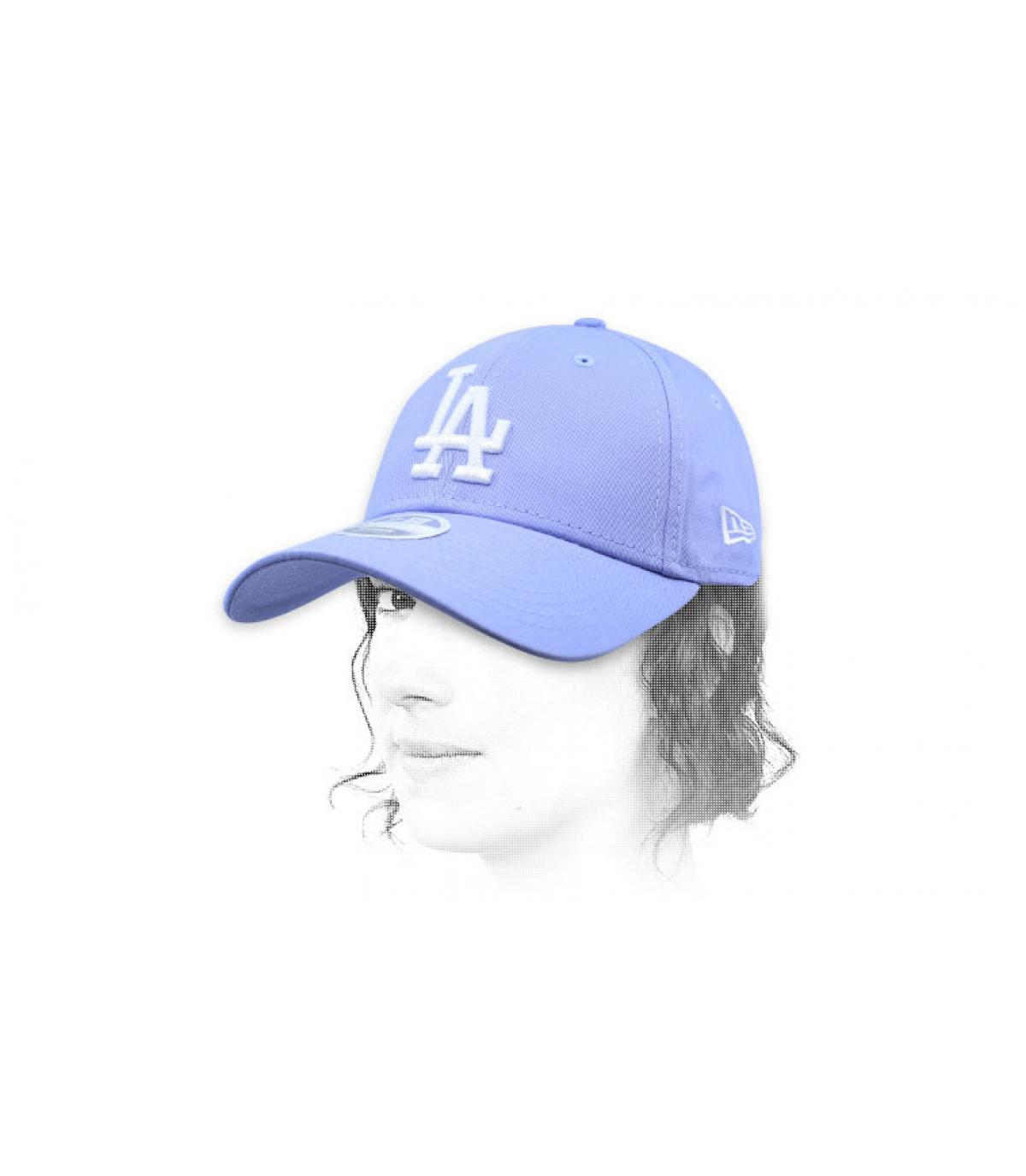 blue women LA cap