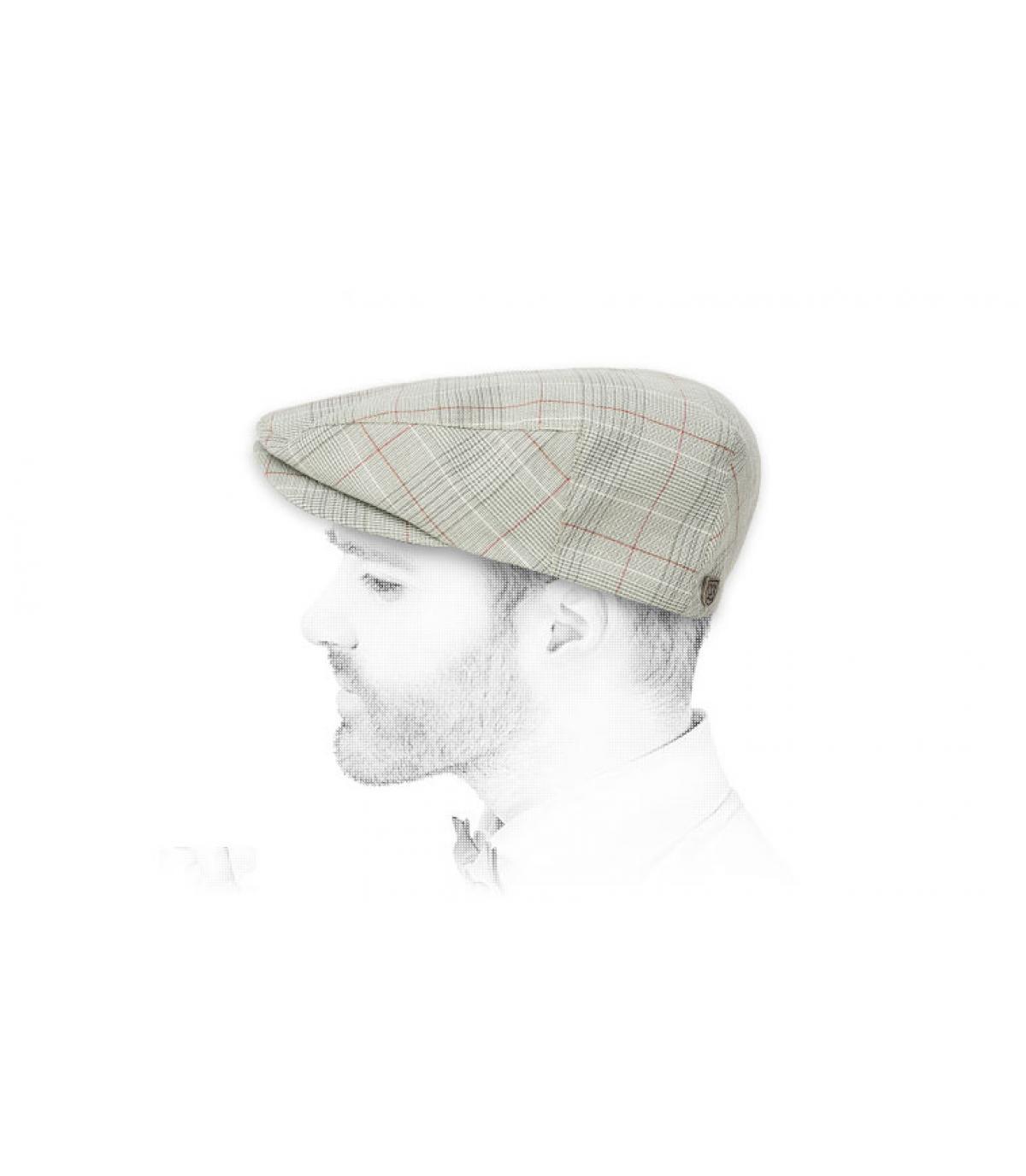 beige Brixton flat cap