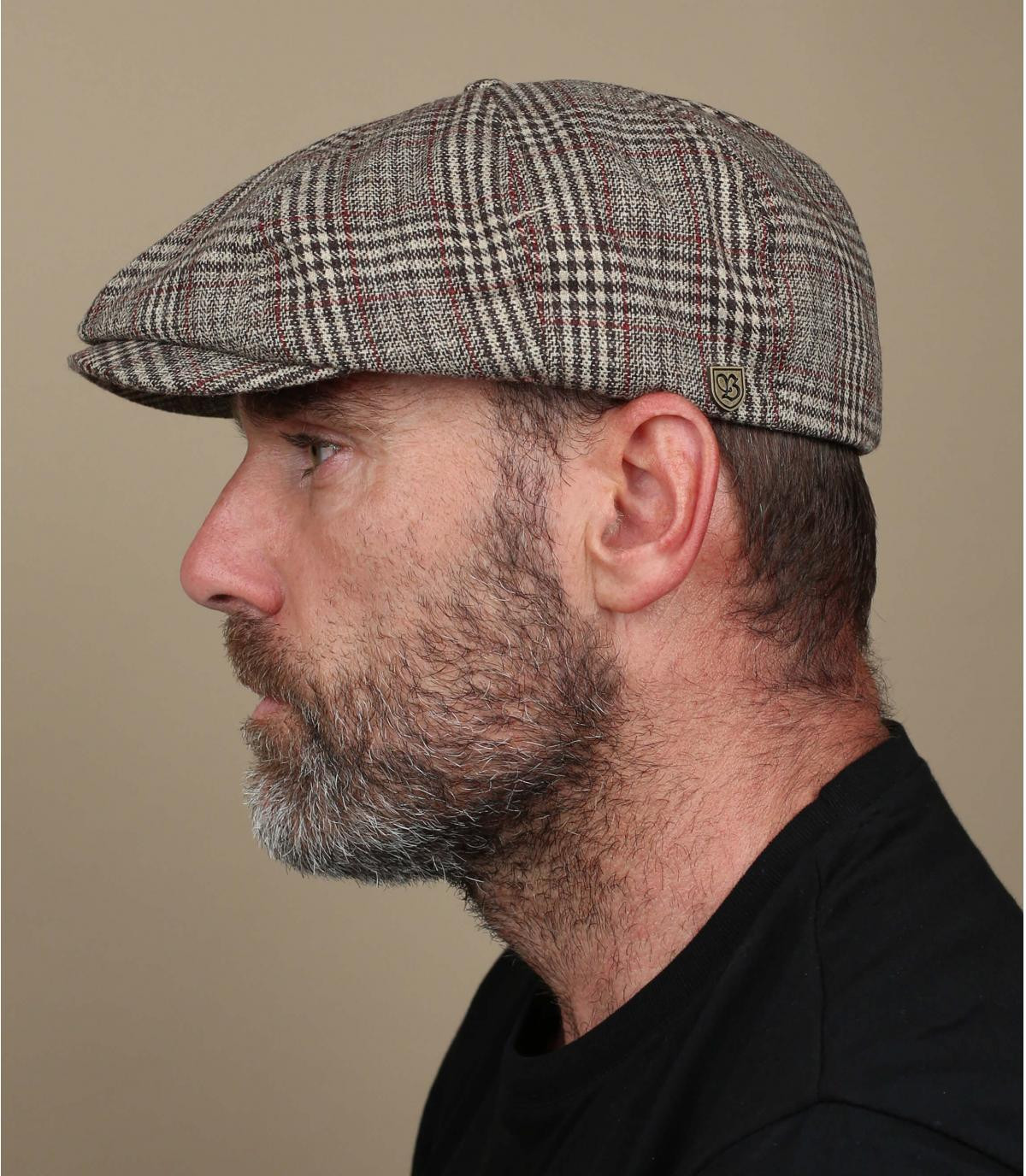 beige newsboy cap